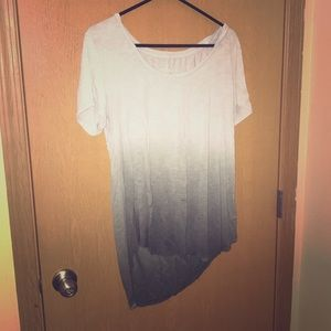 Soft white to grey ombré t shirt